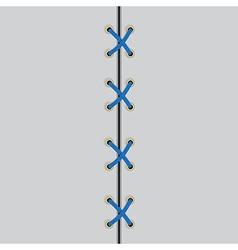 Shoe lace black symbol vector
