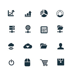 Development soft icons set vector