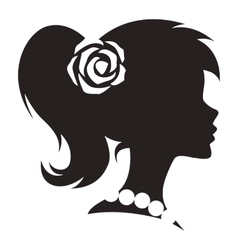 Vintage cameo women silhouette vector