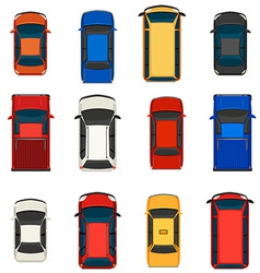 A group of vehicles vector