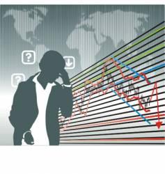 Business graphs vector