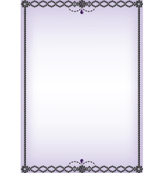 Onyx and amethyst bead border vector