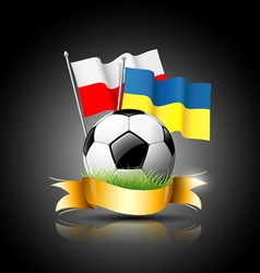 European football 2012 and flag vector