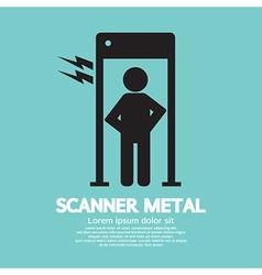 Metal scanner gate vector