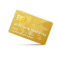 Icongoldcreditcard vector