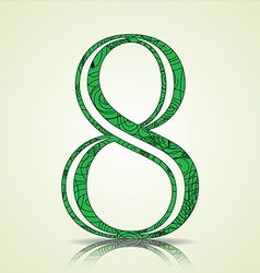 Number of collection made of swirls - 8 vector