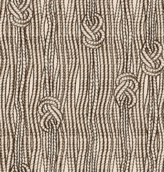 Seamless pattern of ropes with marine knots vector