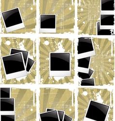 Grunge style photo frames vector