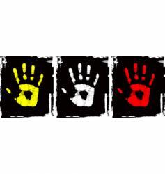 Grunge hand set vector