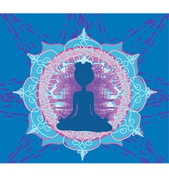 Yoga and spirituality vector
