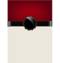 Red abstract vintage card and badge vector