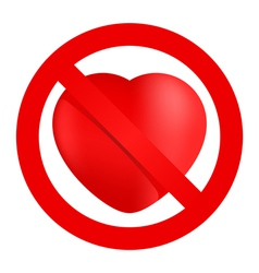 No loving sign vector