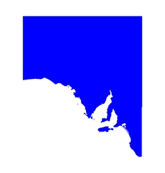 Map of south australia vector