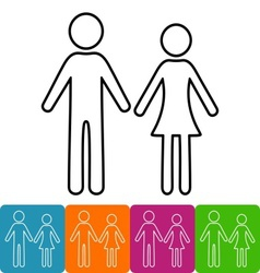 Man and woman icons vector