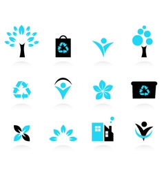 Nature and environment icons vector