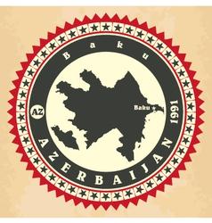 Vintage label-sticker cards of azerbaijan vector