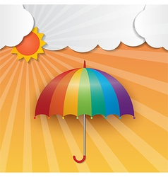 Sunny sky background vector