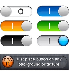 Rounded glossy relays vector