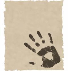 Grunge hand print vector