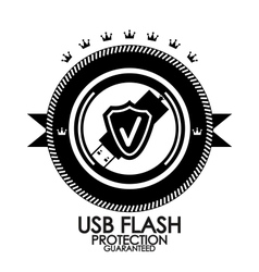 Black retro vintage label  tag  badge  usb flash vector