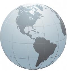 Globe  america vector
