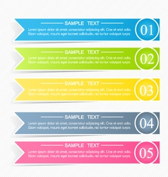 Modern infographics colorful design template vector