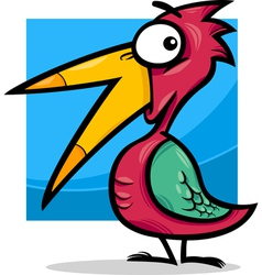 Cute little bird cartoon vector