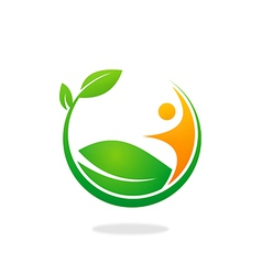 Plant ecology people logo vector