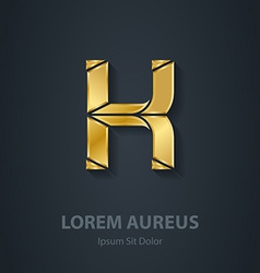 Letter k elegant gold font template for company vector