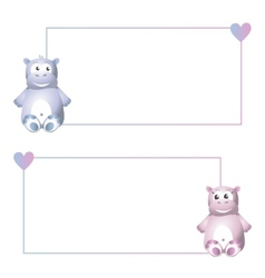 Frame with hippo vector