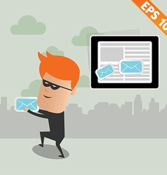 Hacker steal email - - eps10 vector