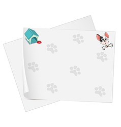 Empty stationery papers vector