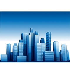 3d cityscape buildings background vector