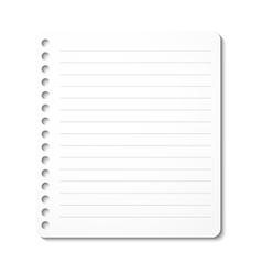 Notebook paper sheet vector