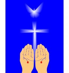 Hands of jesus vector