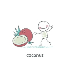 Coconut and people vector