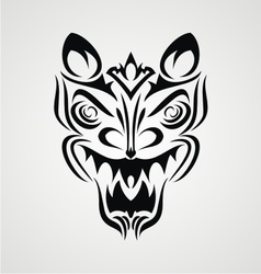Tribal demon face vector