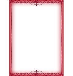 Ruby red bead border vector