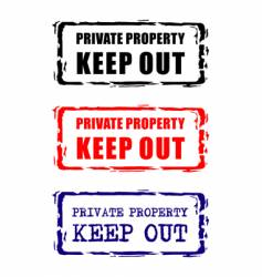 Private property stamp vector