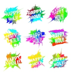Happy holi set vector