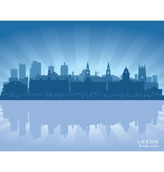 Leeds england skyline vector