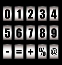 Ticker counter vector