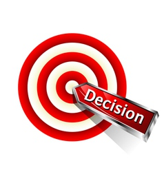 Concept decision icon vector