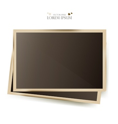 Photo slides frame vector