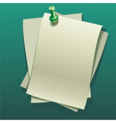Notepaper sheets vector