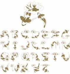 Fish alphabet vector