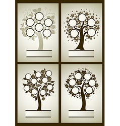 Set of family tree 1 vector