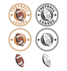 Set of football labels and badges vector