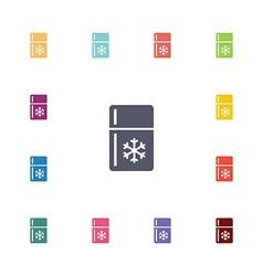 Refrigerator flat icons set vector