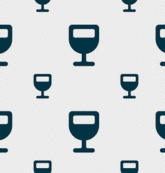 Wine glass alcohol drink icon sign seamless vector